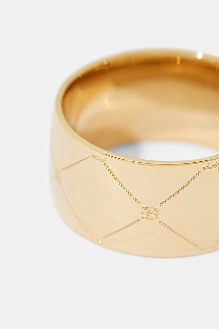 Stainless steel ring , GOLD, detail image number 1