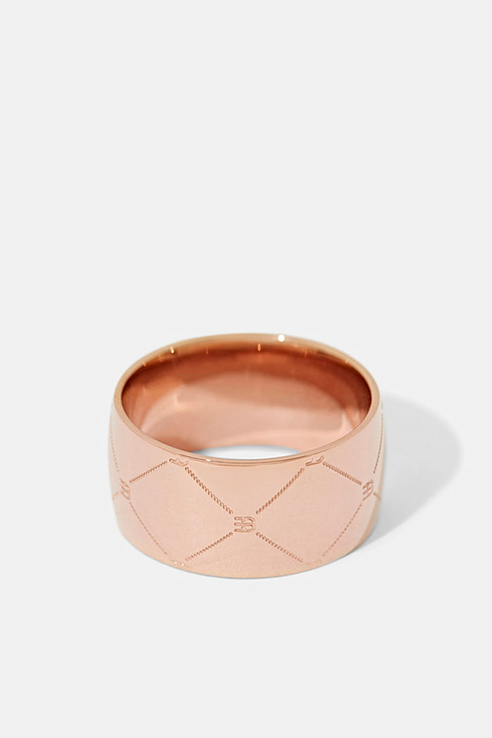 Rings steel, ROSEGOLD, detail image number 0