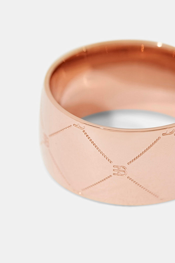 Rings steel, ROSEGOLD, detail image number 1