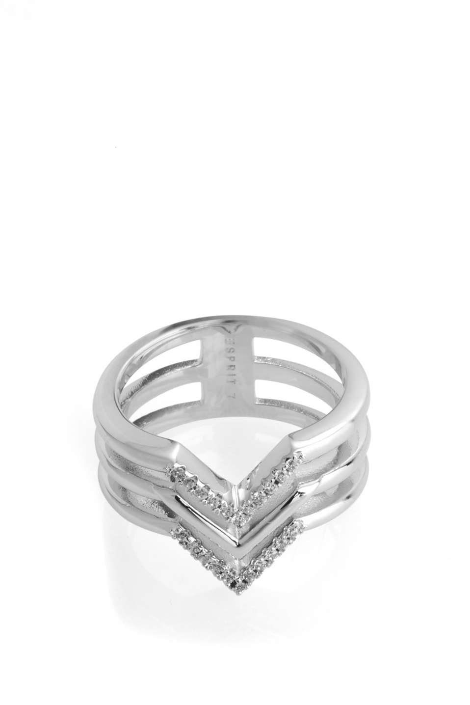 Esprit - Metal ring with zirconia stones