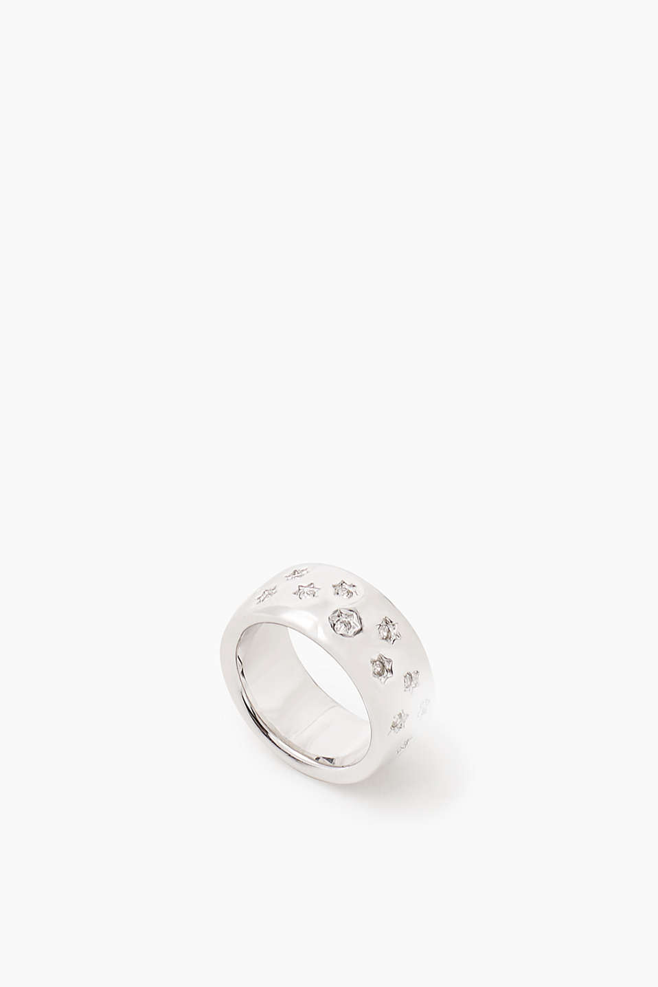 Esprit - Metal ring with zirconia stars