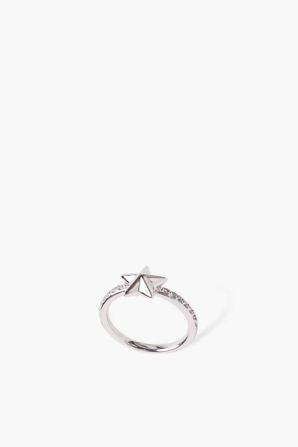 Esprit - Ring with a star, made of metal and zirconia