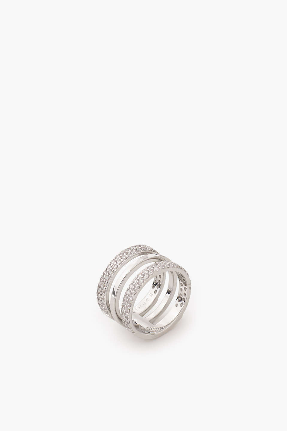 Esprit - High-quality metal ring with zirconia