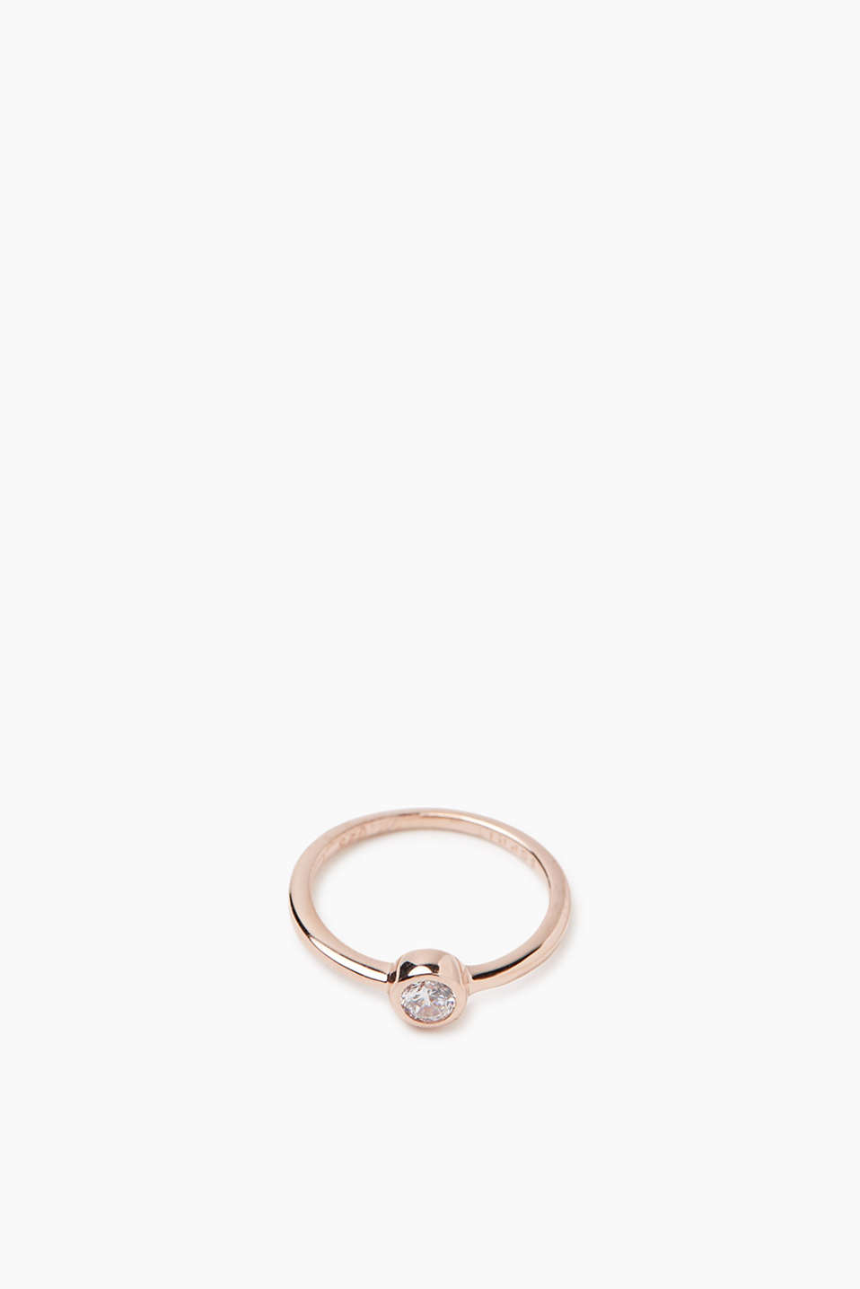 Esprit - sterling silver/rose gold/zirconia