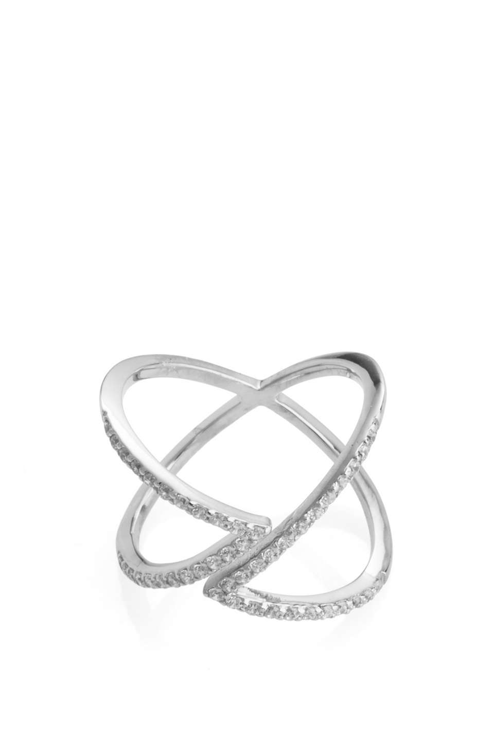 Esprit - Sterling silver/zirconia ring