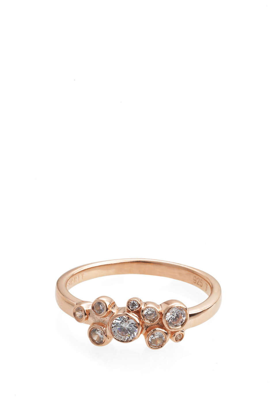 Esprit - sterling silver/rose gold/zirconia ring