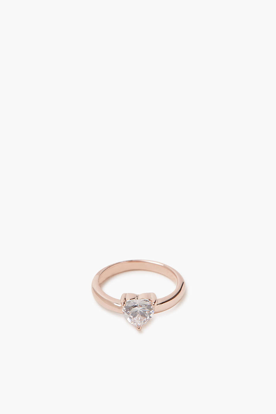 Esprit - Ring with heart-shaped zirconias