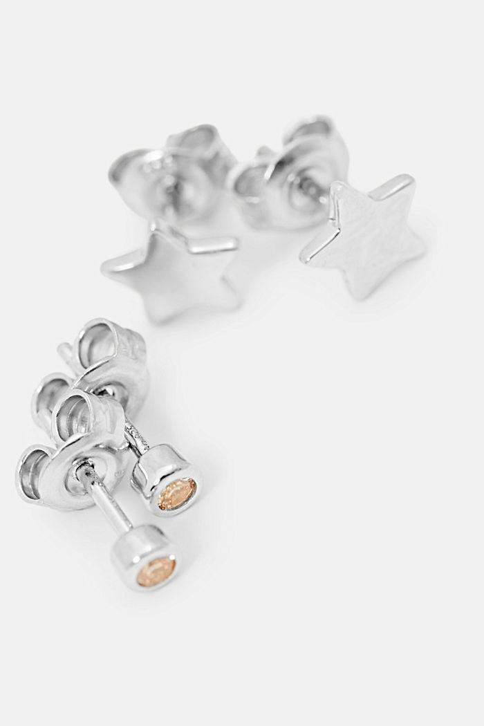 Set van 2 paar oorbellen van sterlingzilver