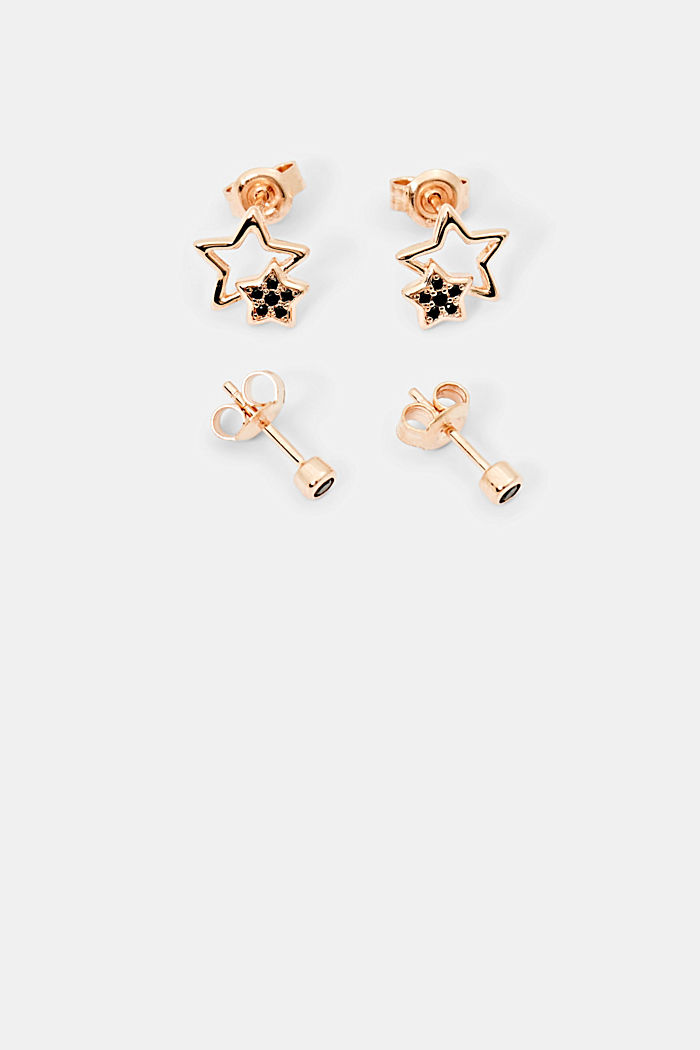 Earrings silver, ROSEGOLD, detail image number 0