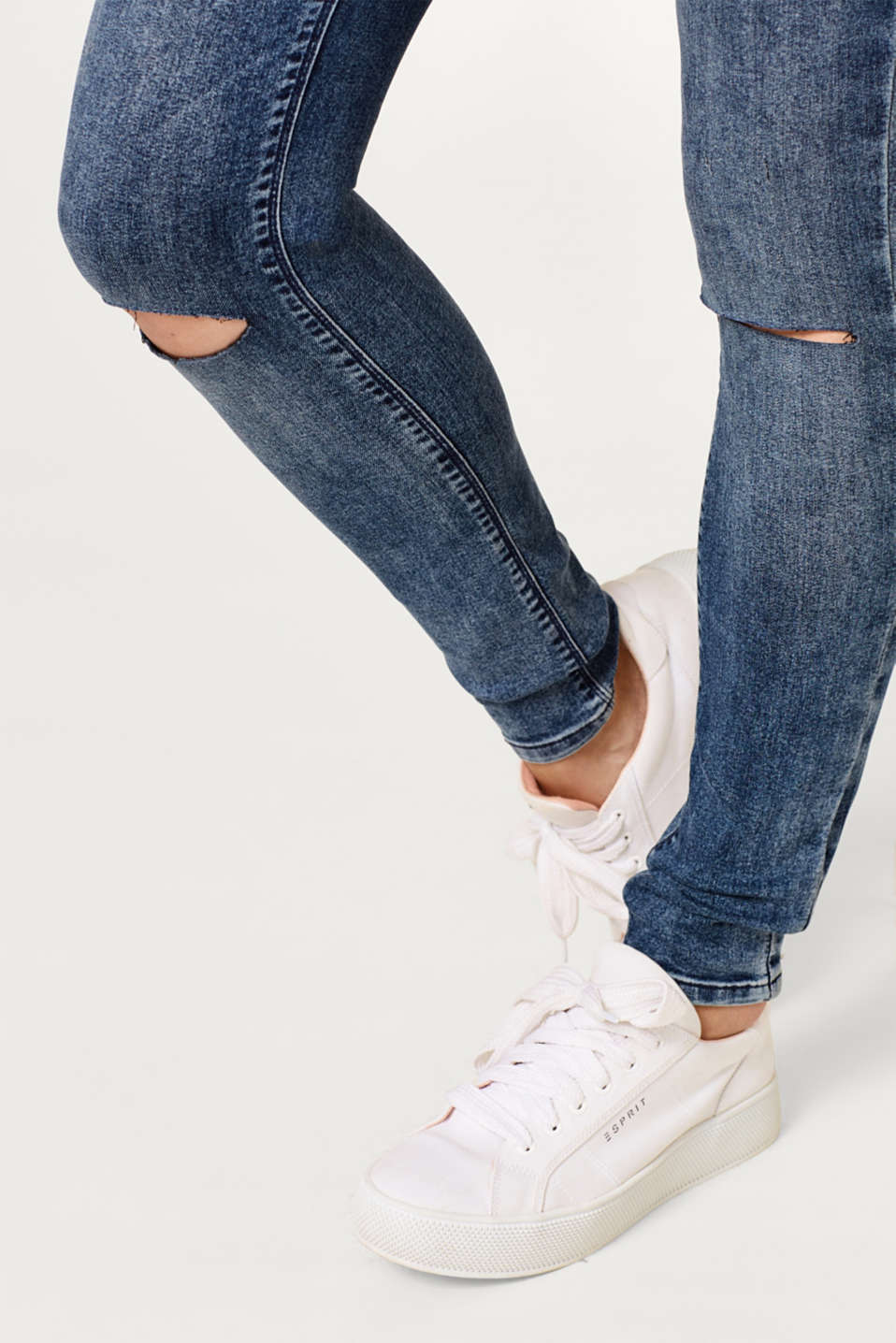 Jeggings with an over-bump waistband, LCDARKWASH, detail image number 2