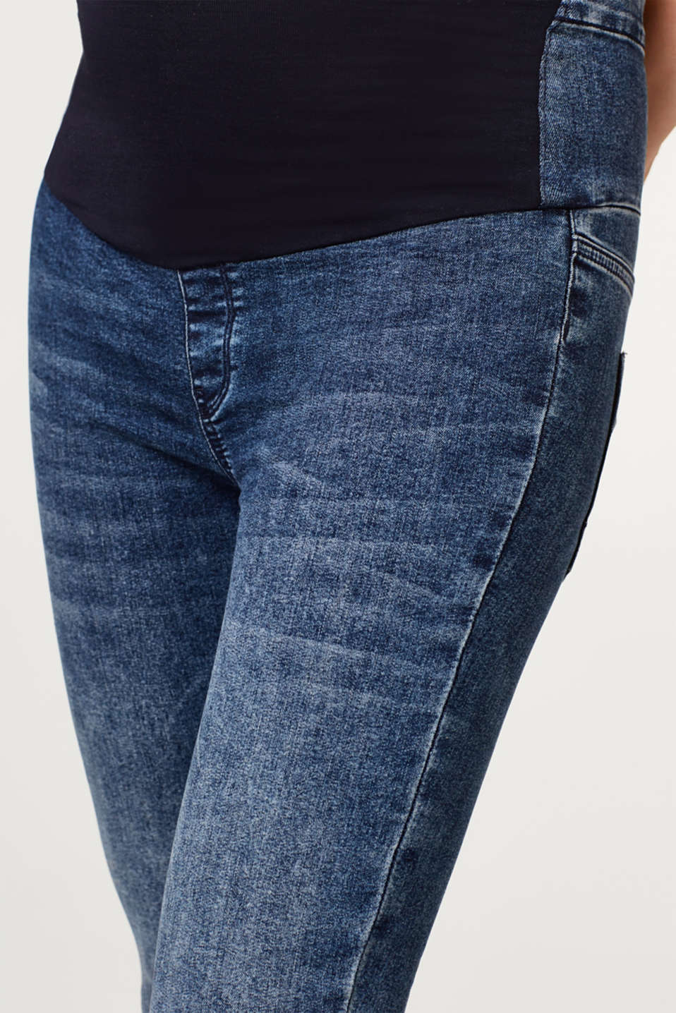 Jeggings with an over-bump waistband, LCDARKWASH, detail image number 4
