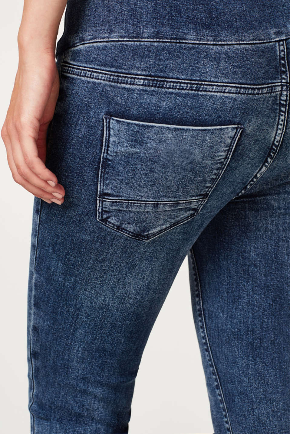 Jeggings with an over-bump waistband, LCDARKWASH, detail image number 5
