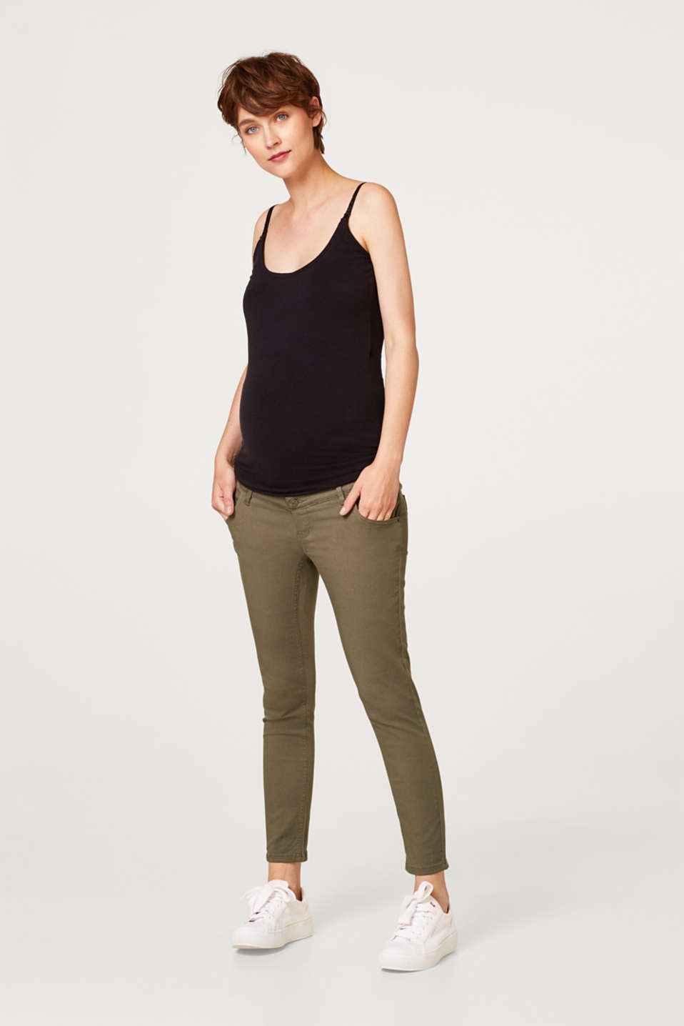 Pantalon stretch à ceinture de maintien ajustable