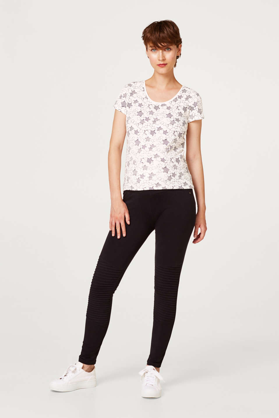 Esprit - Fashion leggings with an under-bump waistband
