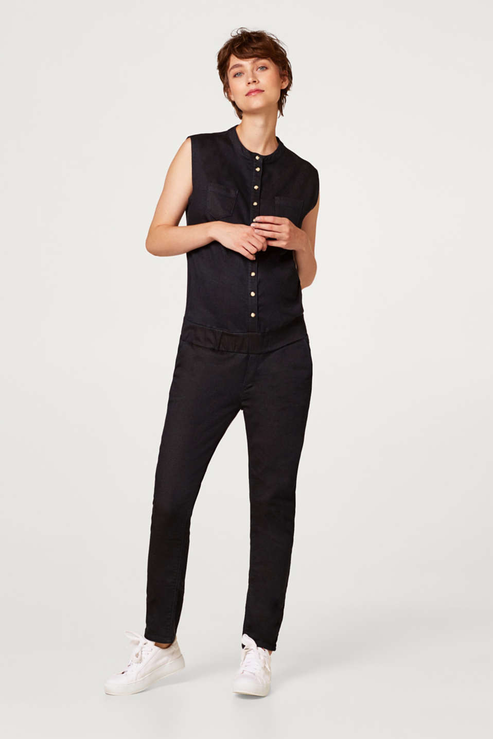 Esprit - Jumpsuit made of firm stretch jersey