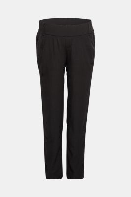 Piped trousers with an under-bump waistband, LCBLACK, detail