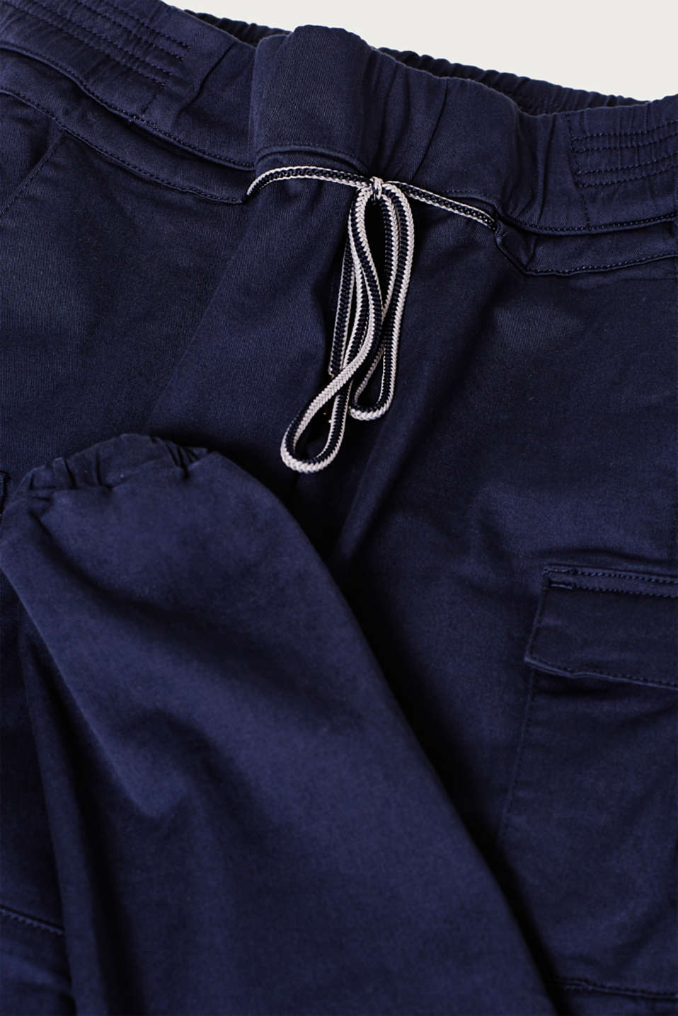 Stretch cargo trousers with an under-bump waistband, LCNIGHT BLUE, detail image number 4
