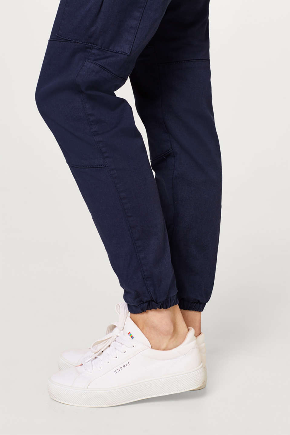 Stretch cargo trousers with an under-bump waistband, LCNIGHT BLUE, detail image number 5