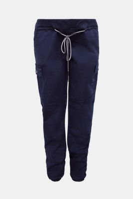 Stretch cargo trousers with an under-bump waistband, LCNIGHT BLUE, detail
