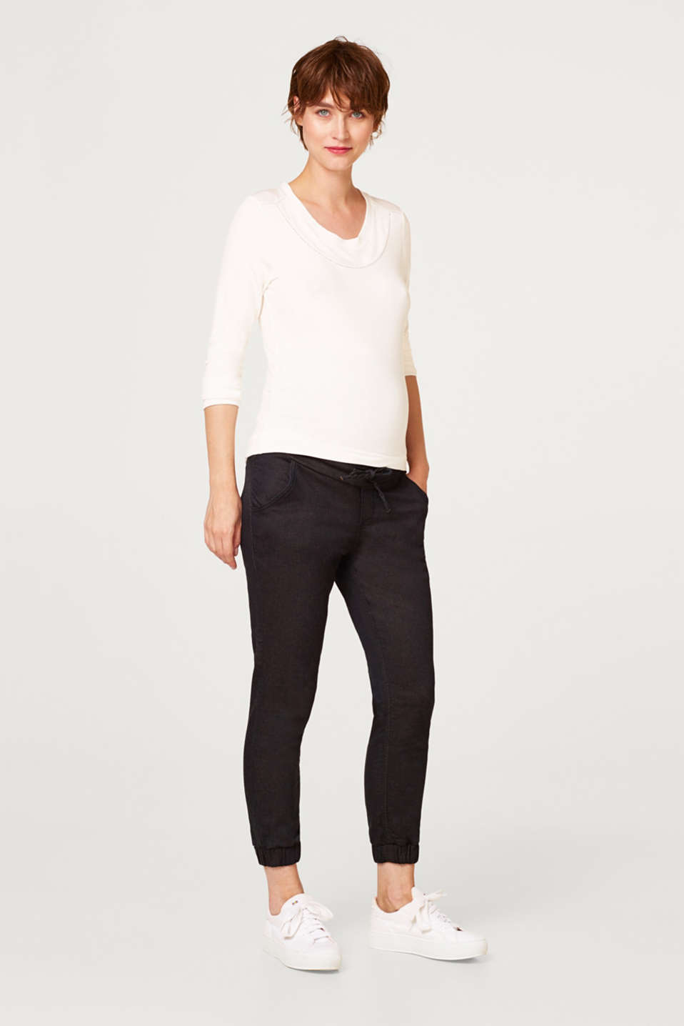 Esprit - Tracksuit bottoms with an over-bump waistband