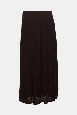 Trendy crinkle maxi skirt with an under-bump waistband, LCBLACK, detail
