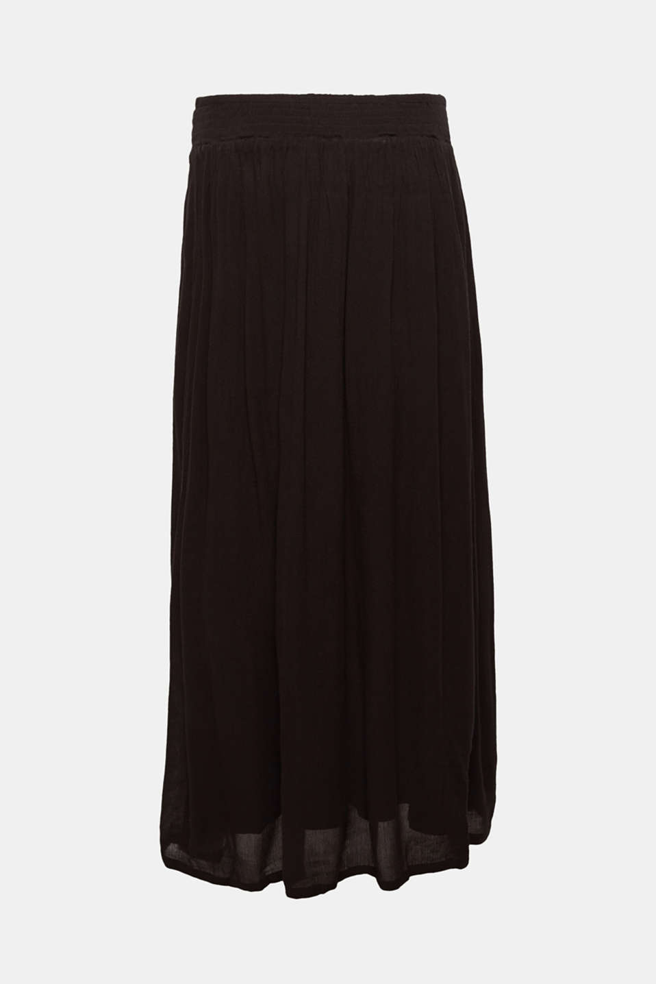 Trendy crinkle maxi skirt with an under-bump waistband, LCBLACK, detail image number 4