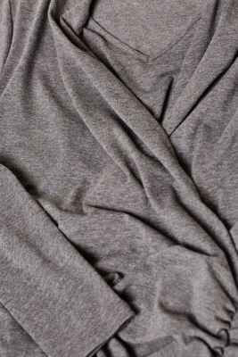 Stretch jersey nursing dress, LCDARK GREY MELA, detail
