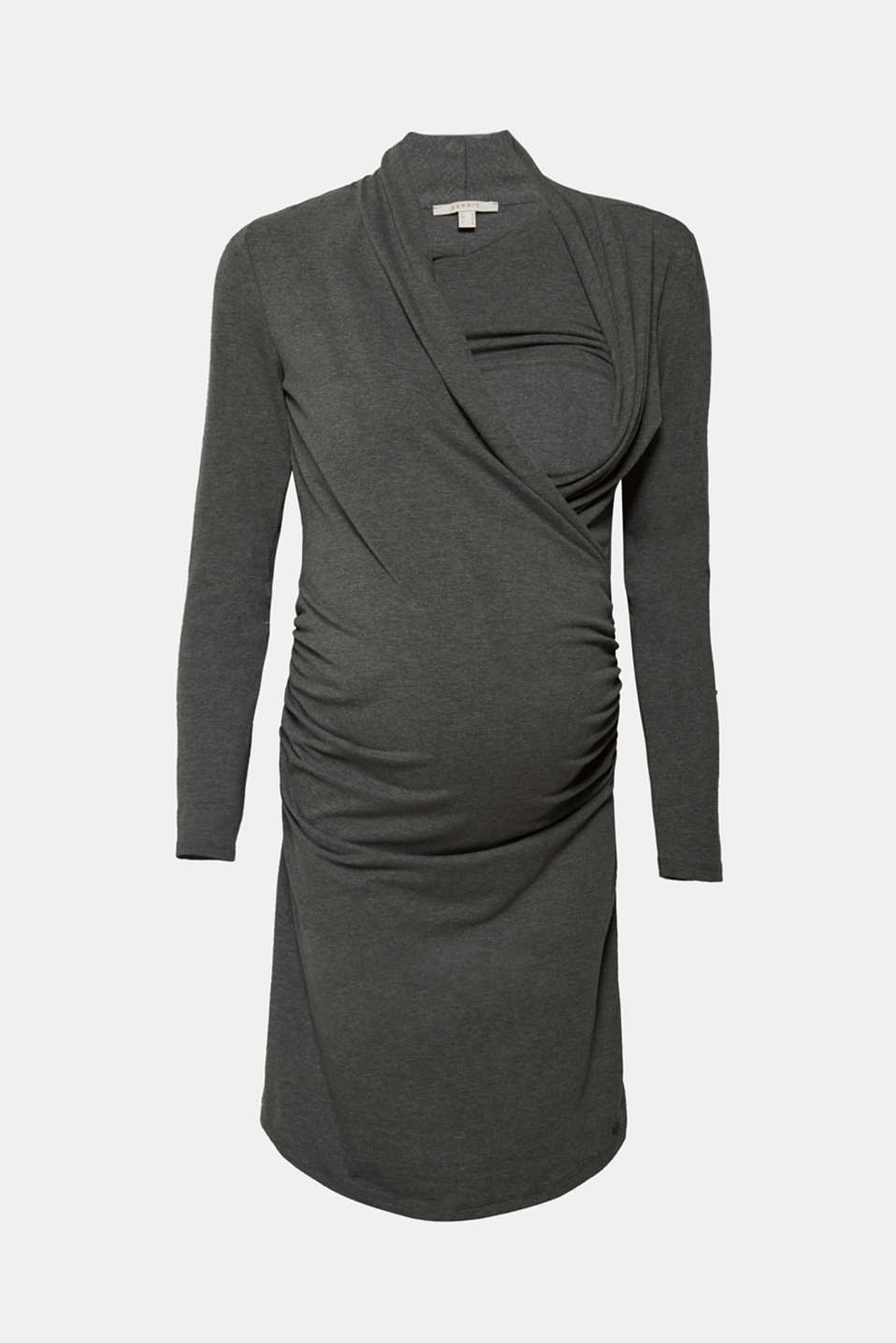 Stretch jersey nursing dress, LCDARK GREY MELA, detail image number 5