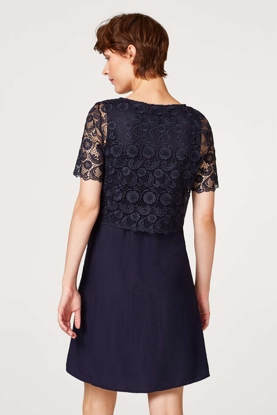 Dress with lace and nursing access, LCNIGHT BLUE, detail image number 3