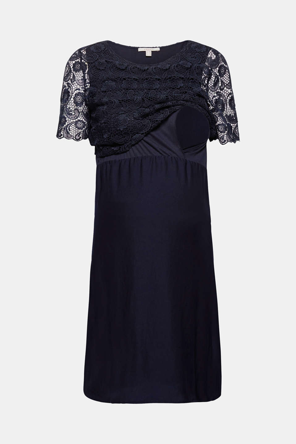 Dress with lace and nursing access, LCNIGHT BLUE, detail image number 7
