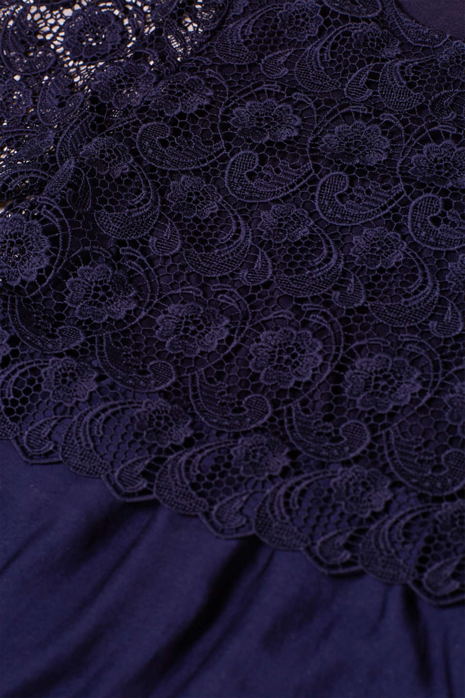 Dress with lace and nursing access, LCNIGHT BLUE, detail image number 4