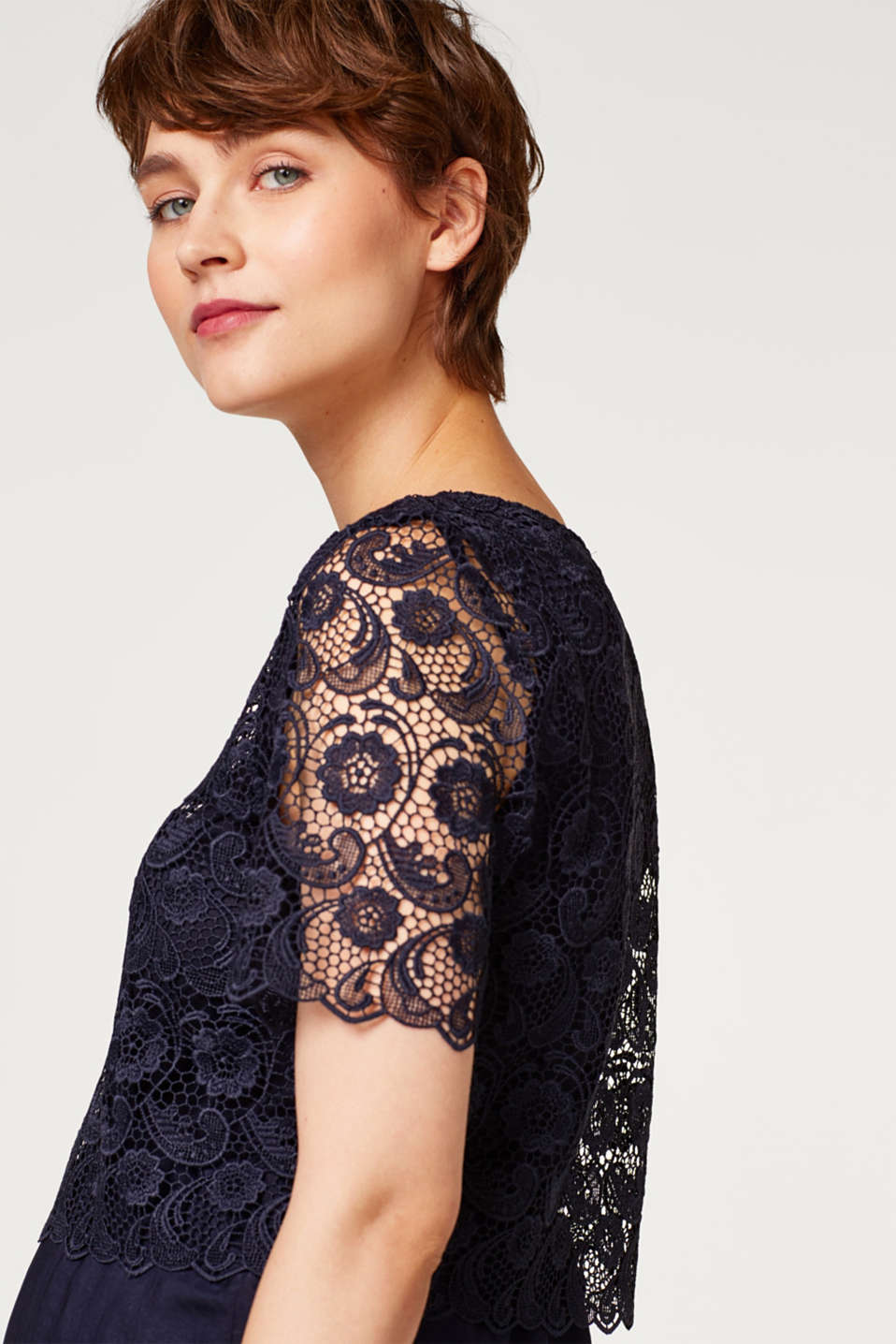 Dress with lace and nursing access, LCNIGHT BLUE, detail image number 6