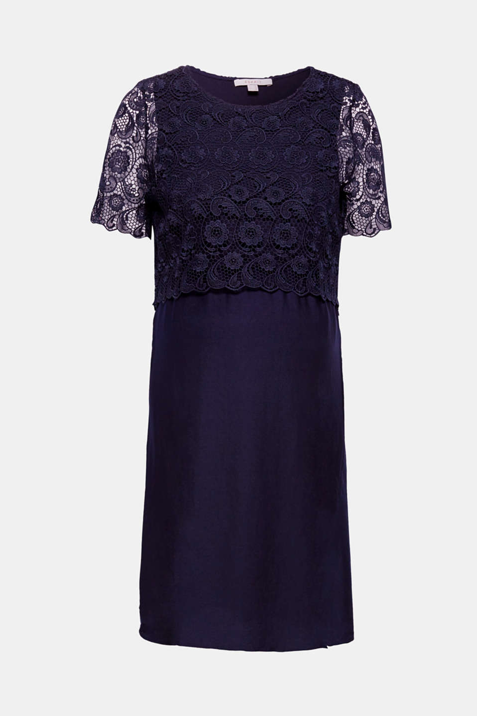 Dress with lace and nursing access, LCNIGHT BLUE, detail image number 8