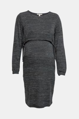 Stretch jersey nursing dress, LCNAVY, detail