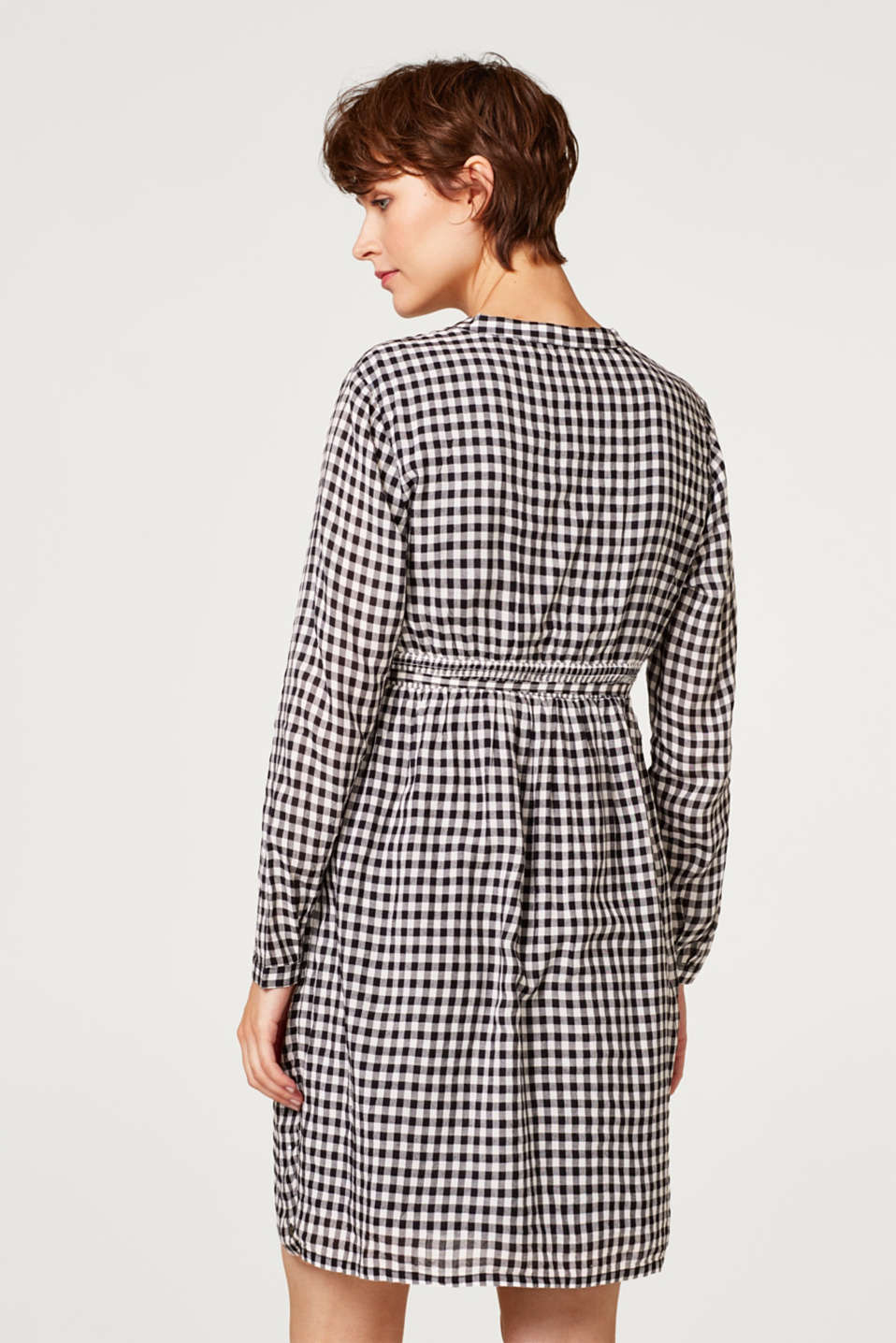 Trendily checked woven dress, LCBLACK, detail image number 3