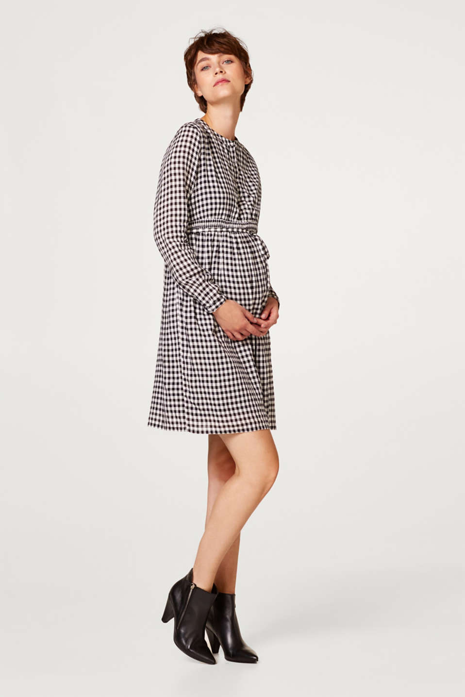 Trendily checked woven dress, LCBLACK, detail image number 1