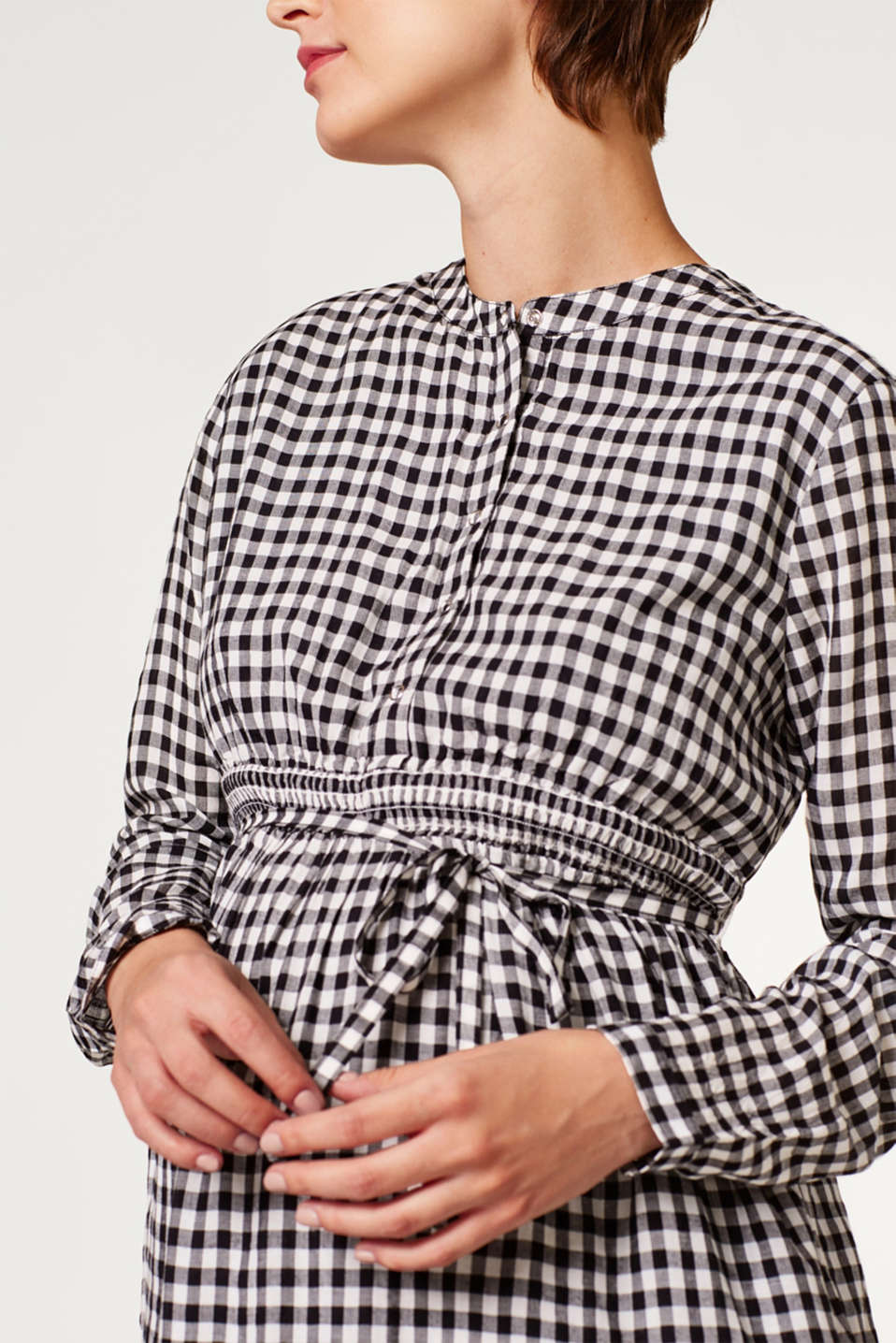 Trendily checked woven dress, LCBLACK, detail image number 2