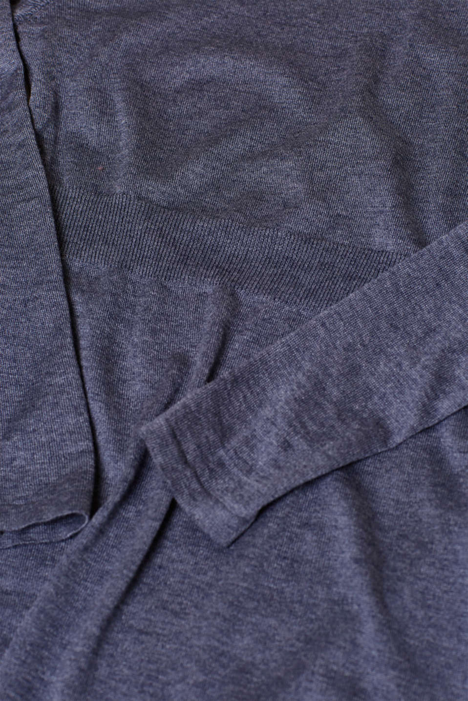 Knit frill detail dress, LCNIGHT BLUE, detail image number 5