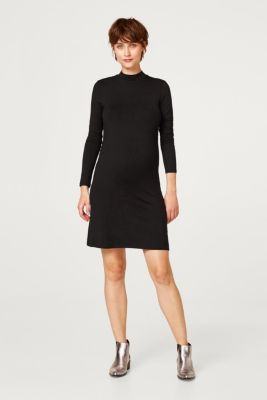 Stretch jersey dress with a stand-up collar, LCBLACK, detail
