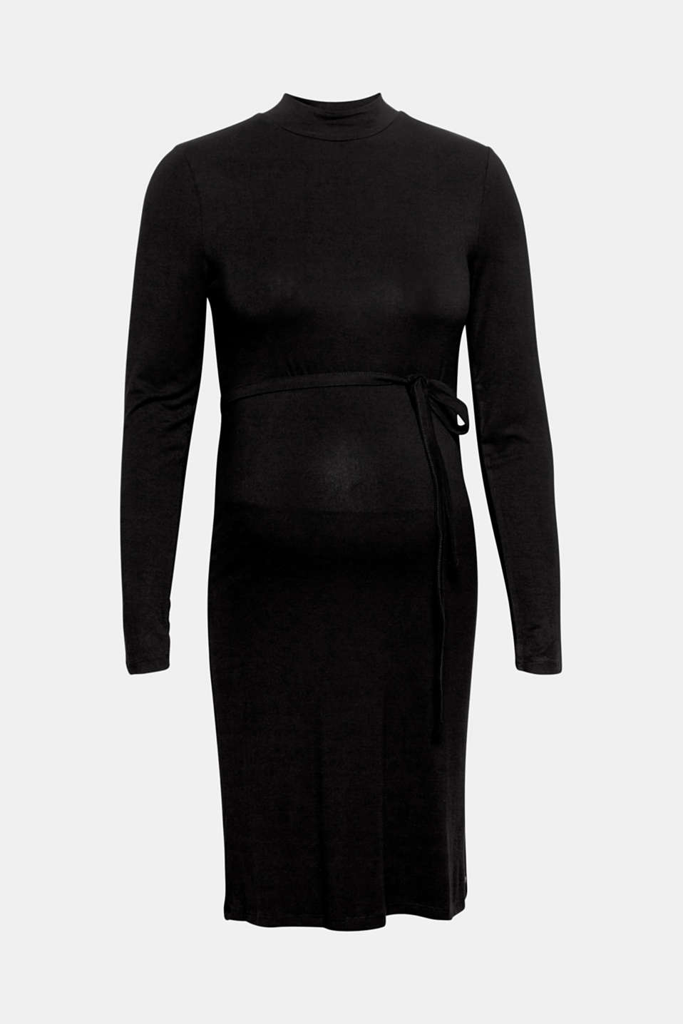 Stretch jersey dress with a stand-up collar, LCBLACK, detail image number 6