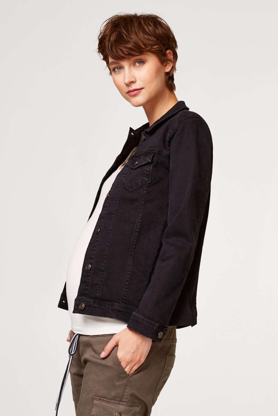 more photos 364a4 5c87d Esprit - Jeansjacke mit Jersey-Einsätzen im Online Shop kaufen