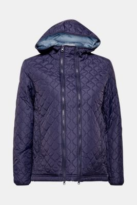 Adjustable quilted jacket with a hood, LCNIGHT BLUE, detail