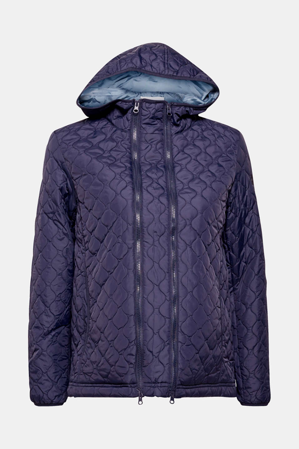 Esprit - Adjustable quilted jacket with a hood