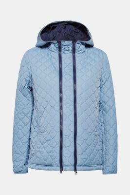 Adjustable quilted jacket with a hood, LCMODERN BLUE, detail