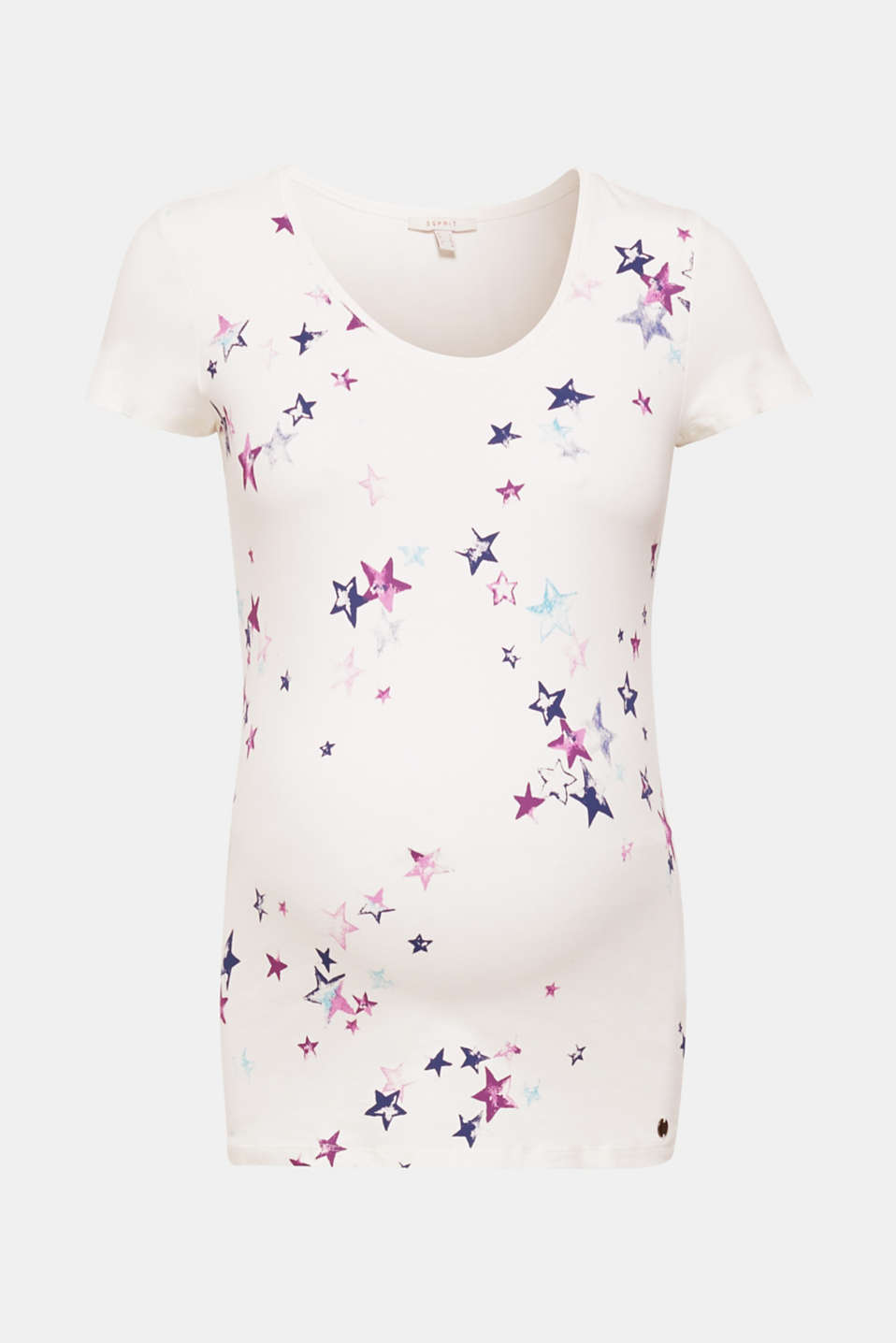 Heavenly highlight for everyday wear: comfy stretch T-shirt with a vintage star print on the front!