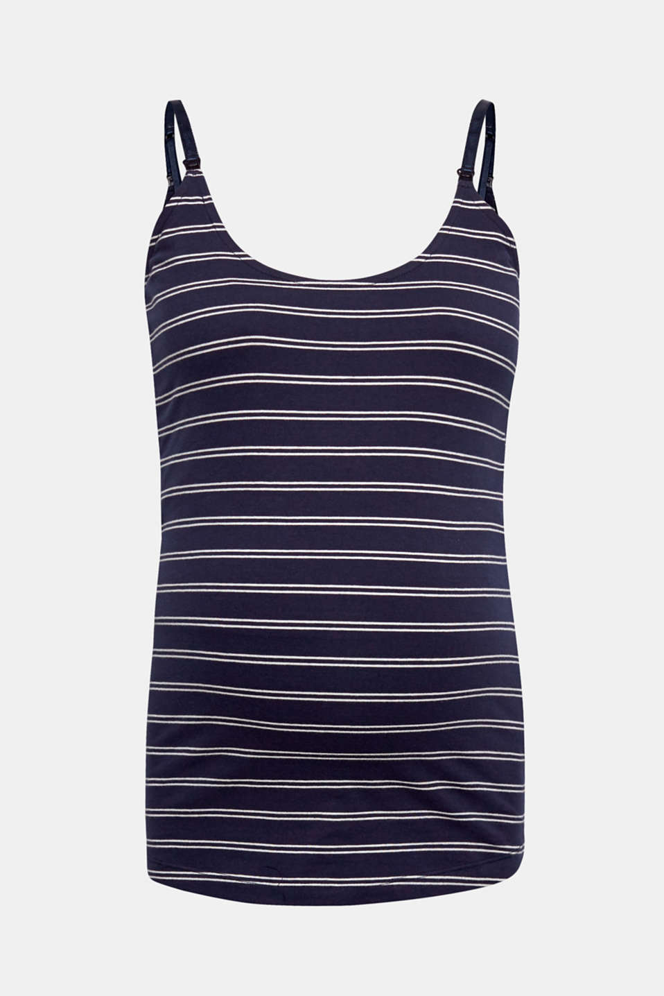 Practical nautical look: the front-opening straps on this stretch top made of premium, environmentally-friendly organic cotton with a lovely stripe pattern make nursing child's play!