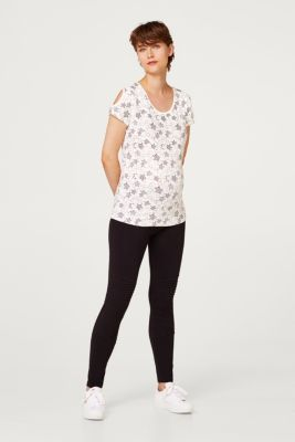 Stretch top with cut-outs, LCOFFWHITE, detail