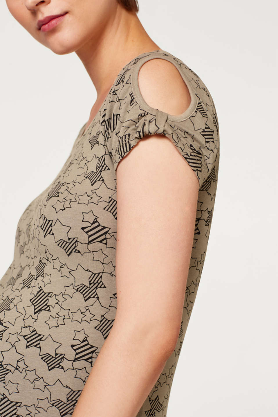 Stretch top with cut-outs, LCREAL OLIVE, detail image number 5