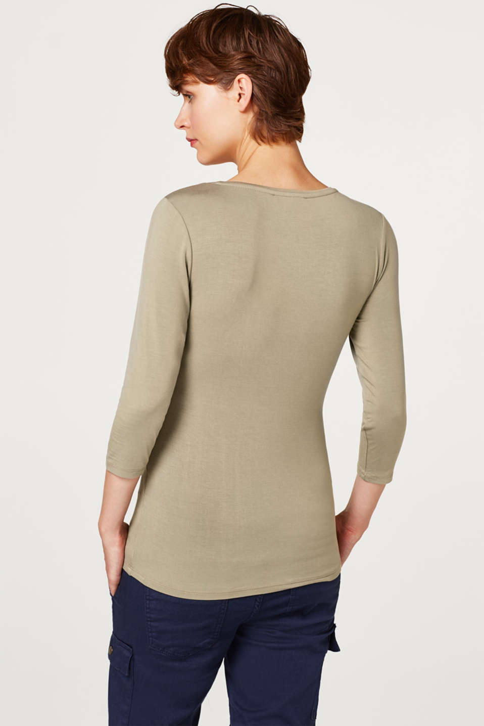 Nursing top with bow details, LCREAL OLIVE, detail image number 3