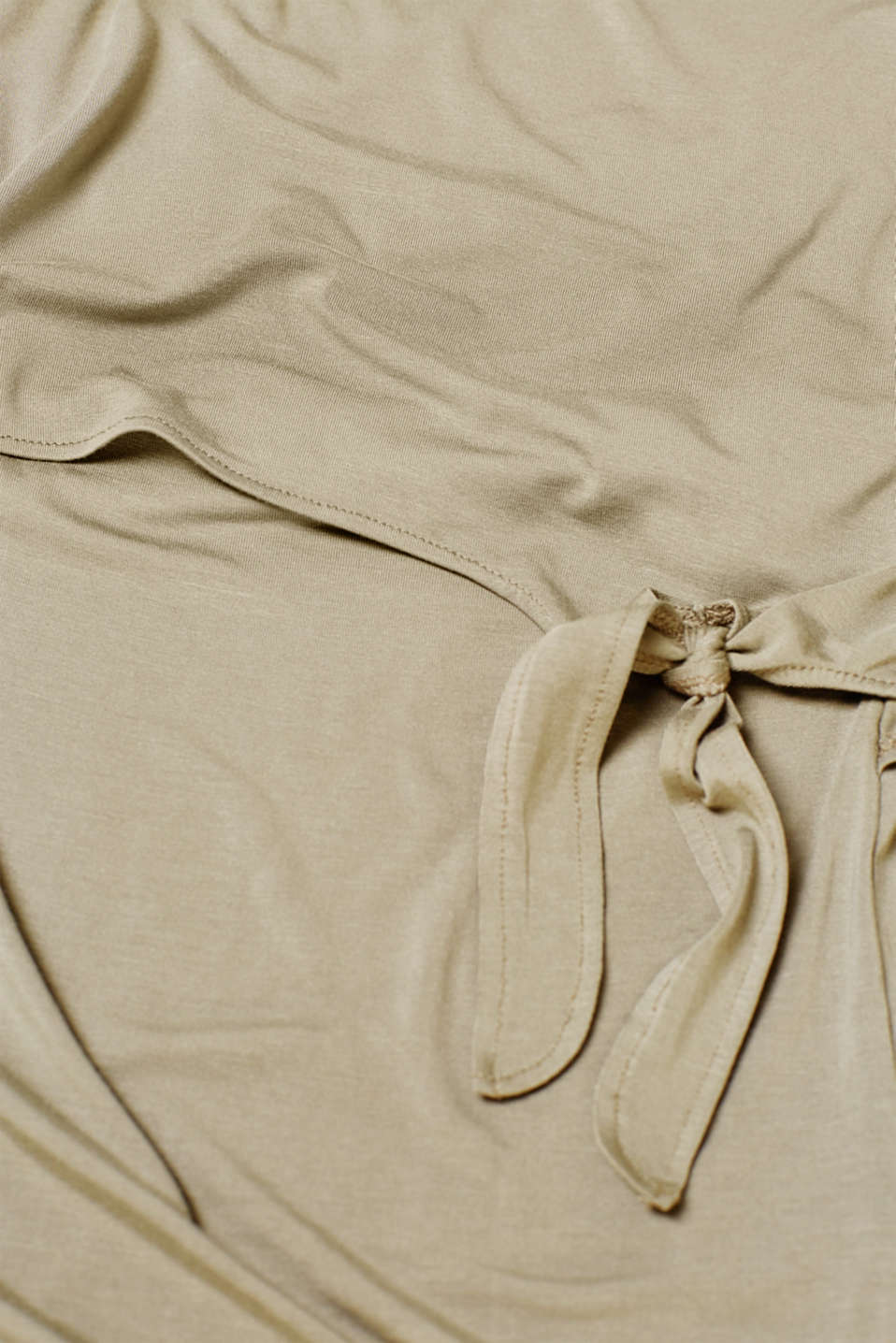 Nursing top with bow details, LCREAL OLIVE, detail image number 4